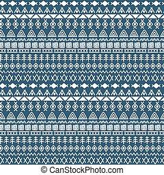 stam, hand, oavgjord, bakgrund., aztekisk, abstrakt, geometrisk, print., geometrisk, etnisk, seamless, mönster