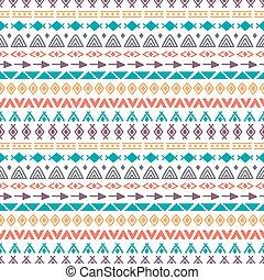stam, seamless, mönster, med, klotter, elements., hand, oavgjord, etnisk, bakgrund., abstrakt, geometrisk, konst, tryck