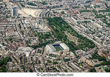 Stamford Bridge Stadium, Chelsea - Aerial View - Aerial view...