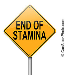Stamina concept. - Illustration depicting a roadsign with an...