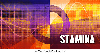 Stamina Focus Concept on a Futuristic Abstract Background