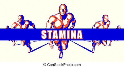 Stamina as a Competition Concept Illustration Art