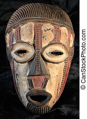 stamm, maske, stammes-, -, afrikanisch, bande
