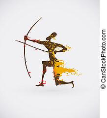 stamme, afrikansk, illustration, kreative, ikon, vektor, etniske, begrebsmæssig