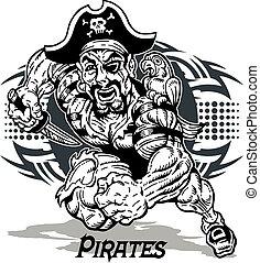 stammes-, design, pirat