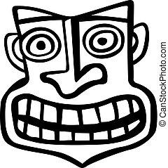 stammes-, uralt, maske