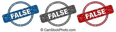 stamp., étiquette, ensemble, faux, signe.