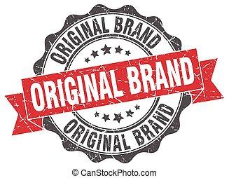 stamp., ブランド, オリジナル, 印。, シール