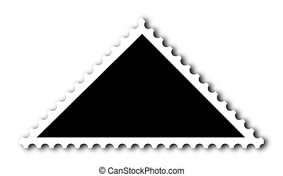Stamp - A blank triangle stamp. Put your image inside black...