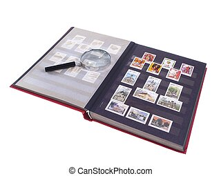 Stamp Album Isolated