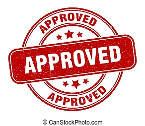 stamp., approvato, rotondo, segno, grunge, label.