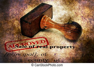 Stamp approved on sale of real property form