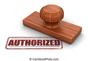 Stamp Authorized. Image with clipping path