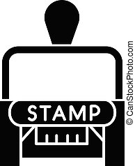 Stamp black glyph icon