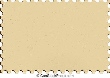 Stamp - Blank postage mailing stamp