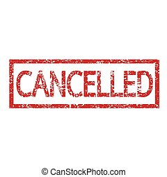 stamp cancelled text