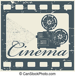 Stamp cinema - The vector image stamp cinema