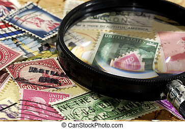 Stamp Collecting Concept