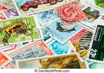 collection of 20th century postage stamps from various countries