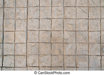 Stamp concrete texture pattern and background.