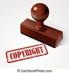 stamp copyright in red text on white