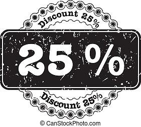 Stamp Discount Twenty Five Percent