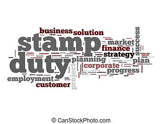 Stamp duty word cloud