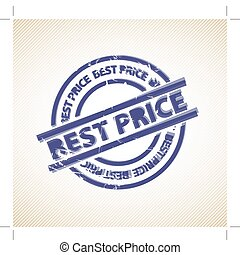 Stamp for best price - retro stamp - best price - for your...