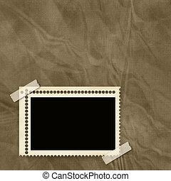 stamp frame over old textured background