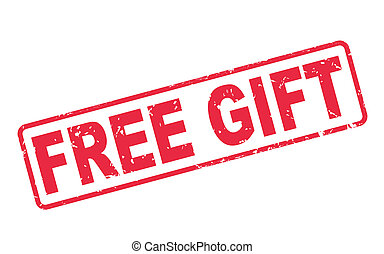 stamp free gift with red text on white - stamp free gift ...