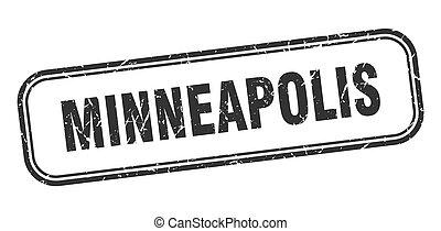 stamp., grunge, isolato, minneapolis, nero, segno
