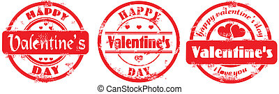 Stamp happy valentine's day and i love you. Vector ...