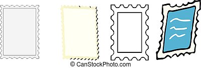 stamp icon on white background