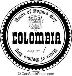 Stamp imprint Battle of Boyaca Day