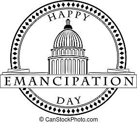 Stamp imprint Emancipation Day