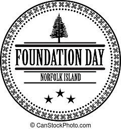 Stamp imprint Foundation Day