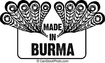 Stamp imprint Made in Burma