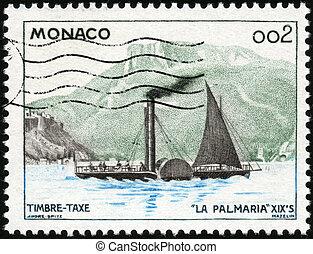 Stamp La Palmaria - CIRCA 1960: A stamp printed in Monaco...