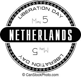 Stamp Liberation Day Netherlands