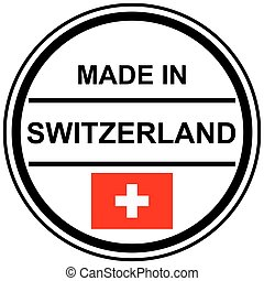 stamp Made in switzerland