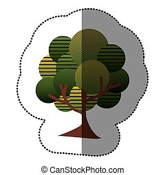 stamp natural tree icon
