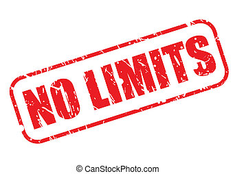 Stamp No Limits with red text on white