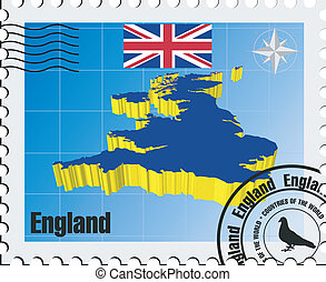 stamp  of England