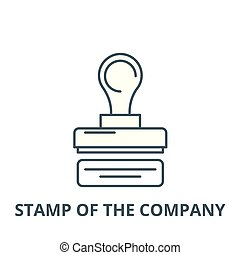 Stamp of the company vector line icon, linear concept, outline sign, symbol