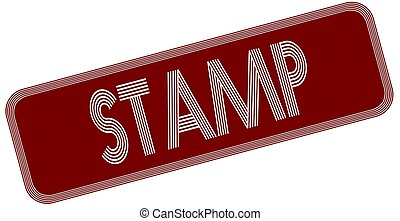 STAMP on red label.