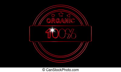 Stamp organic sketch animation over black