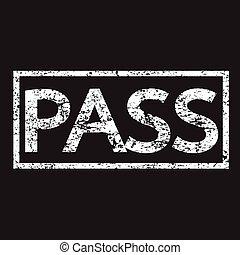 stamp pass text