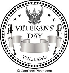 Stamp print Veterans Day Thailand