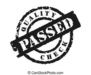 Stamp 'Quality Check Passsed' - An effective way to show the...