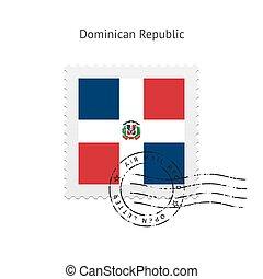 stamp., république, affranchissement, dominicain, drapeau